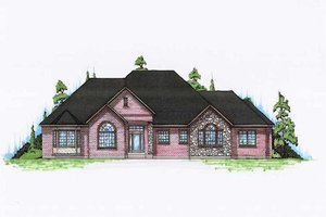 Traditional Exterior - Front Elevation Plan #5-294
