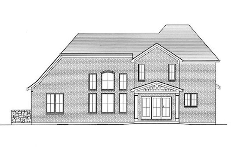 European Exterior - Rear Elevation Plan #46-473 - Houseplans.com