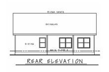 Architectural House Design - Traditional Exterior - Rear Elevation Plan #20-2352