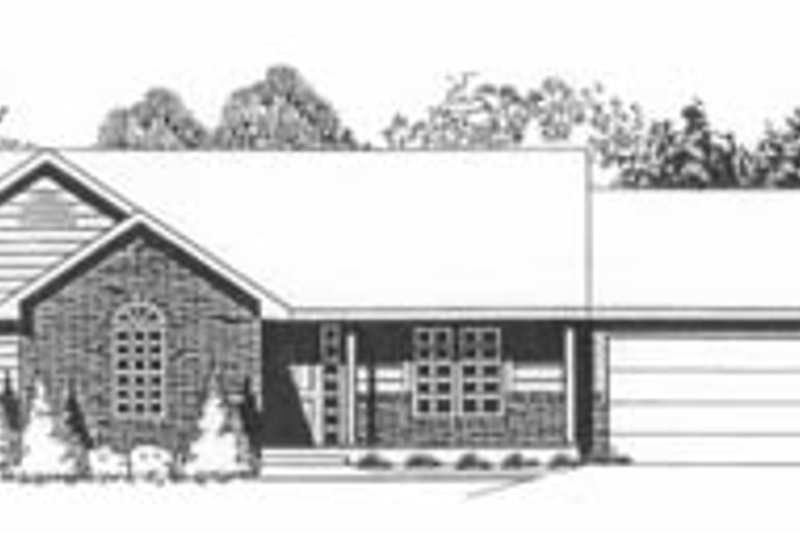 Ranch Exterior - Front Elevation Plan #58-109 - Houseplans.com