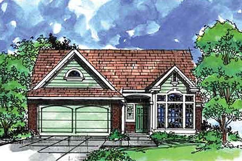 Traditional Exterior - Front Elevation Plan #320-416 - Houseplans.com