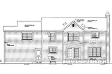 House Design - Colonial Exterior - Rear Elevation Plan #3-187