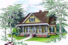 Southern Exterior - Front Elevation Plan #45-249
