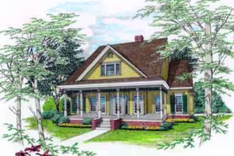 Dream House Plan - Southern Exterior - Front Elevation Plan #45-249