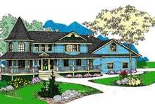 Dream House Plan - Victorian Exterior - Front Elevation Plan #60-610