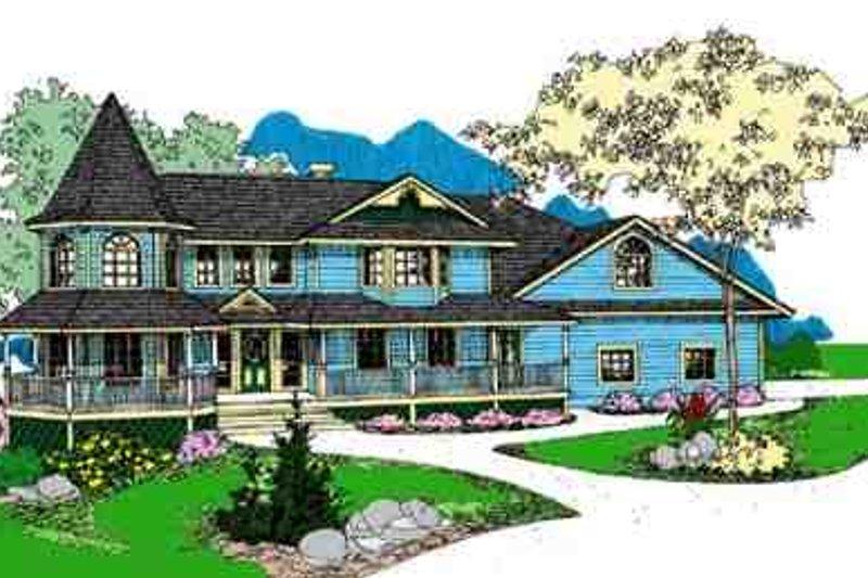 Dream House Plan - Victorian Exterior - Front Elevation Plan #60-610