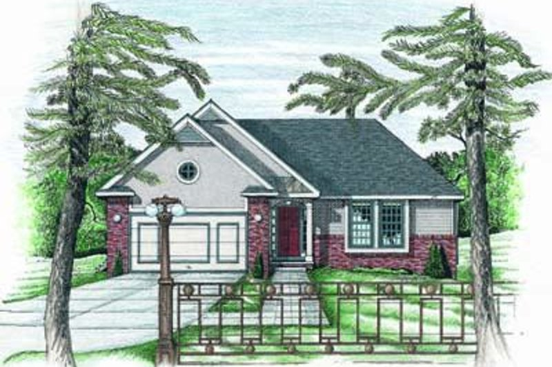 Home Plan Design - Traditional Exterior - Front Elevation Plan #20-389