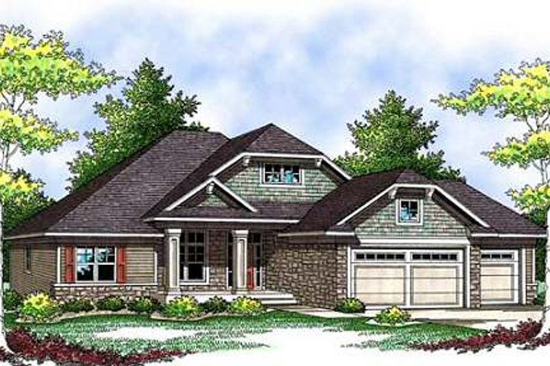 Home Plan - Craftsman Exterior - Front Elevation Plan #70-909