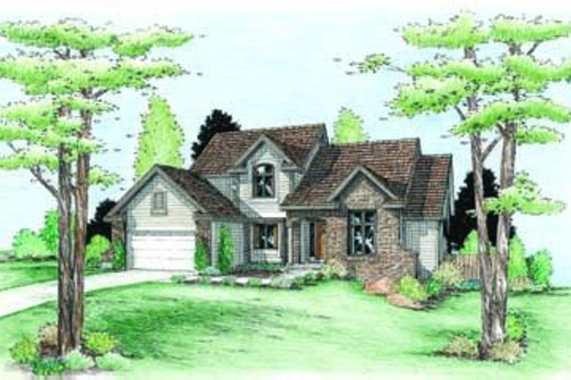 Traditional Exterior - Front Elevation Plan #20-865