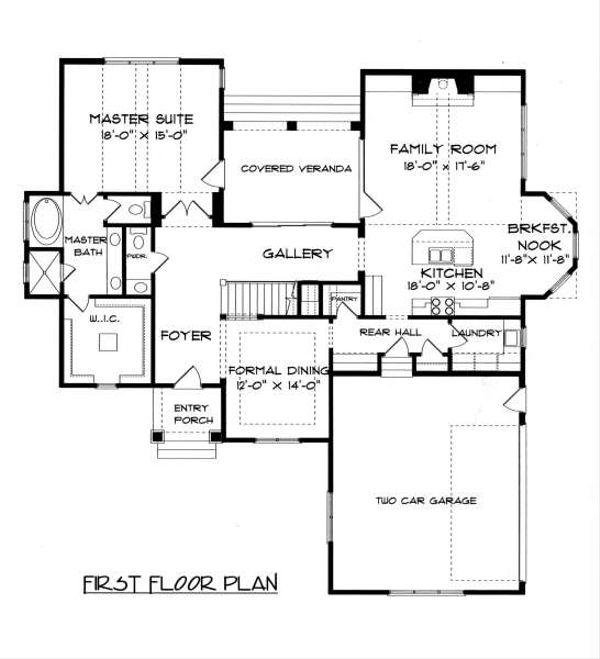 Tudor Floor Plan - Main Floor Plan Plan #413-140