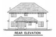 Mediterranean Style House Plan - 4 Beds 2.5 Baths 2216 Sq/Ft Plan #18-240 Exterior - Rear Elevation