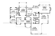 Traditional Style House Plan - 4 Beds 4.5 Baths 5064 Sq/Ft Plan #490-17 Floor Plan - Main Floor Plan
