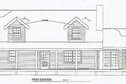 Log Style House Plan - 3 Beds 2 Baths 2064 Sq/Ft Plan #17-483 Exterior - Other Elevation