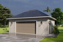 House Plan Design - Traditional Exterior - Front Elevation Plan #1060-91