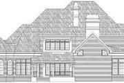 European Style House Plan - 4 Beds 5 Baths 4550 Sq/Ft Plan #119-236 Exterior - Rear Elevation
