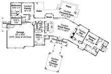 Craftsman Floor Plan - Main Floor Plan Plan #124-777