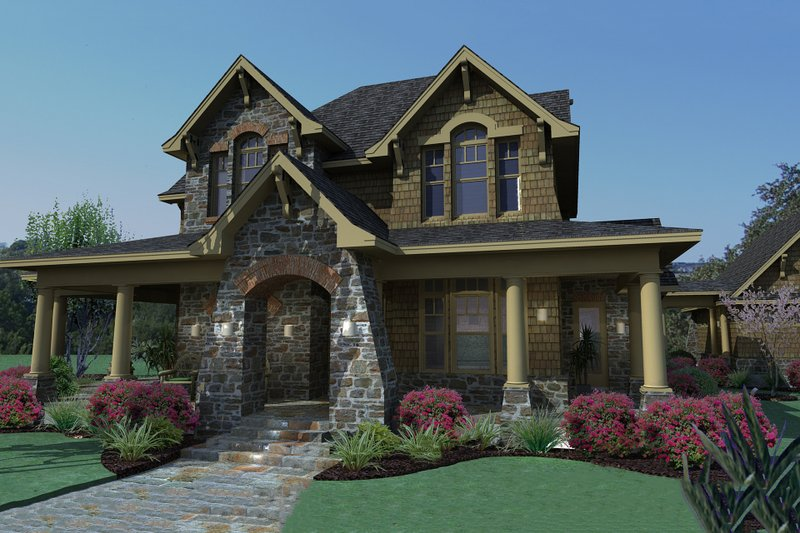 Craftsman Exterior - Front Elevation Plan #120-167 - Houseplans.com
