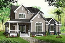 Country Exterior - Front Elevation Plan #23-589