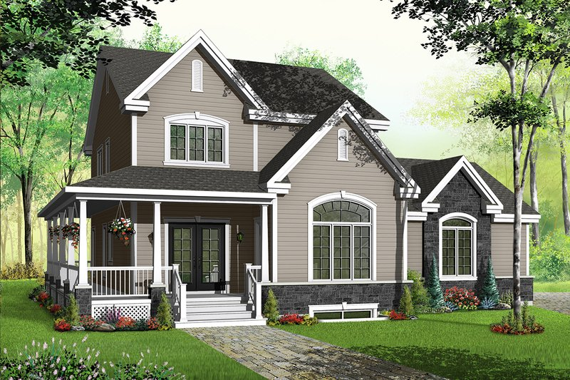 House Plan Design - Country Exterior - Front Elevation Plan #23-589