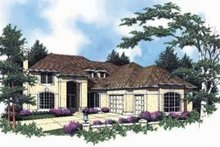 House Design - Mediterranean Exterior - Front Elevation Plan #48-181