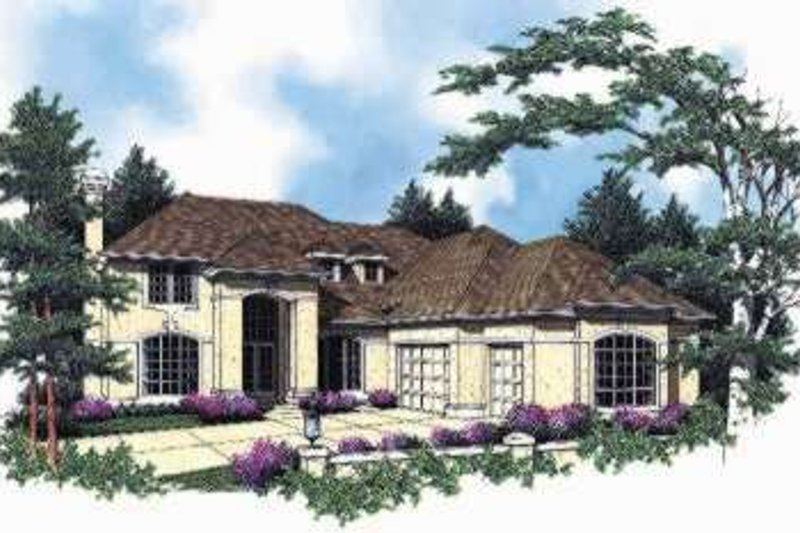 Dream House Plan - Mediterranean Exterior - Front Elevation Plan #48-181