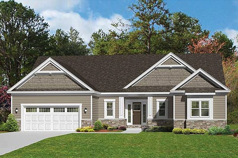 Architectural House Design - Ranch Exterior - Front Elevation Plan #1010-101