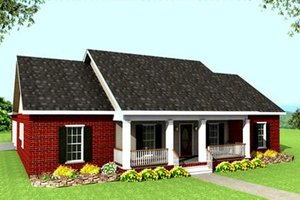 Architectural House Design - Ranch Exterior - Front Elevation Plan #44-117