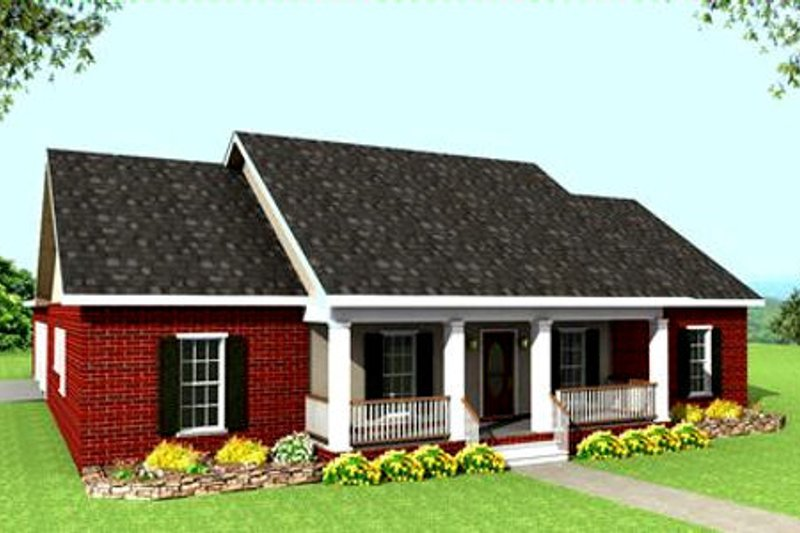 Ranch Exterior - Front Elevation Plan #44-117 - Houseplans.com