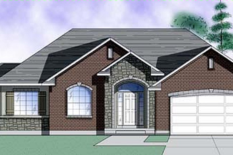 Architectural House Design - Traditional Exterior - Front Elevation Plan #5-111