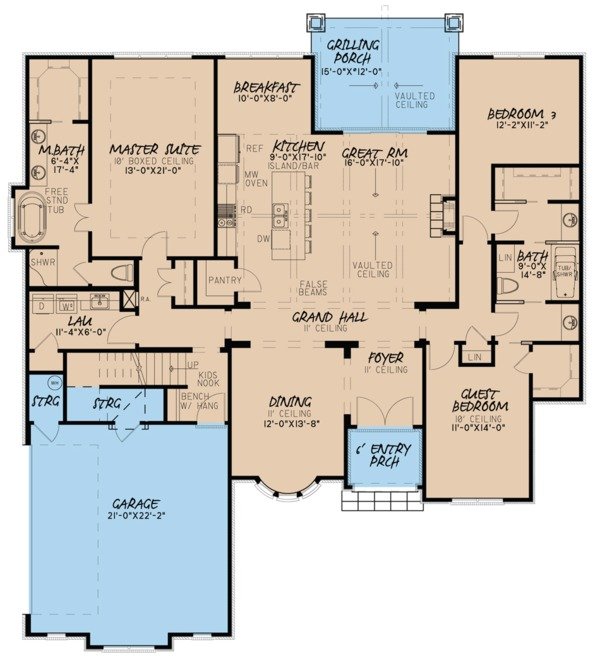European Floor Plan - Main Floor Plan Plan #923-59