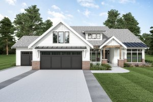 Dream House Plan - Farmhouse Exterior - Front Elevation Plan #1070-118