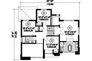 Contemporary Style House Plan - 4 Beds 2 Baths 1890 Sq/Ft Plan #25-4307 Floor Plan - Upper Floor Plan