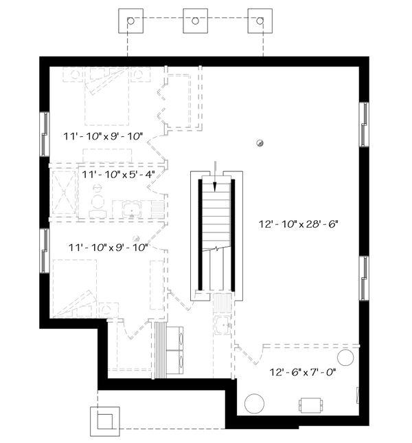 Modern Floor Plan - Lower Floor Plan Plan #23-2638