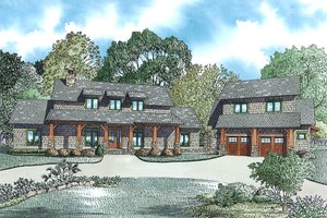 Home Plan - Craftsman Exterior - Front Elevation Plan #17-2480