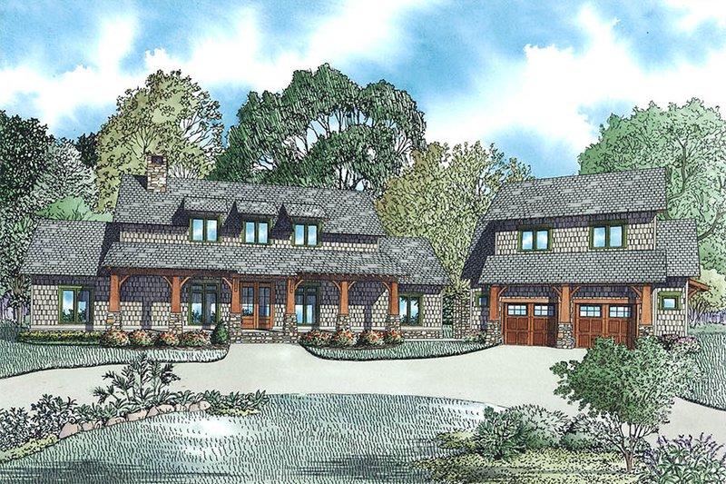Dream House Plan - Craftsman Exterior - Front Elevation Plan #17-2480