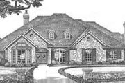 European Style House Plan - 3 Beds 2.5 Baths 3327 Sq/Ft Plan #310-499 Exterior - Front Elevation