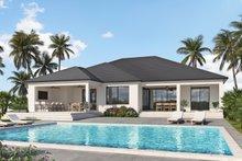 House Plan Design - Contemporary Exterior - Rear Elevation Plan #938-110