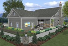 Craftsman Exterior - Rear Elevation Plan #56-720