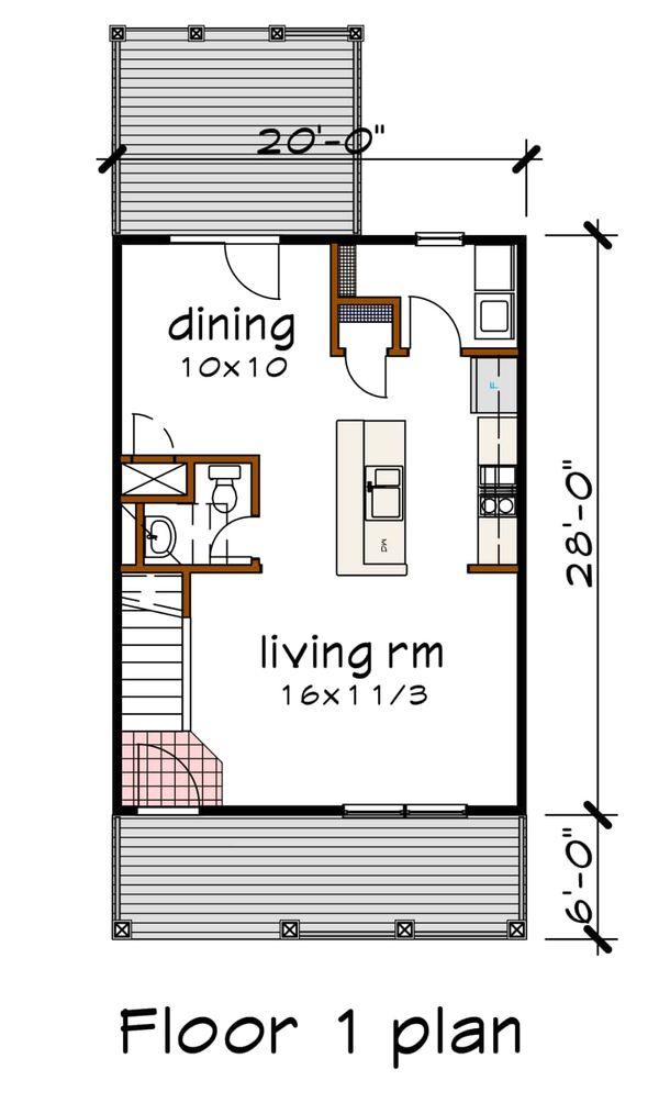 Dream House Plan - Cottage Floor Plan - Main Floor Plan #79-120