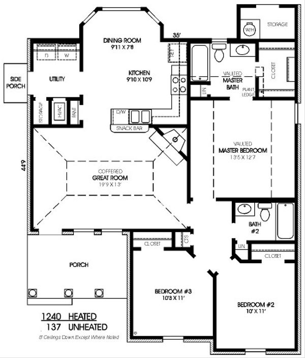 Traditional Floor Plan - Main Floor Plan Plan #424-256
