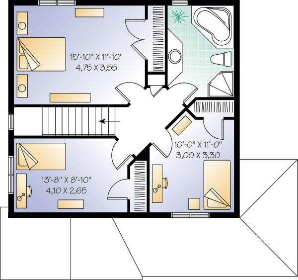 Country Floor Plan - Upper Floor Plan #23-262