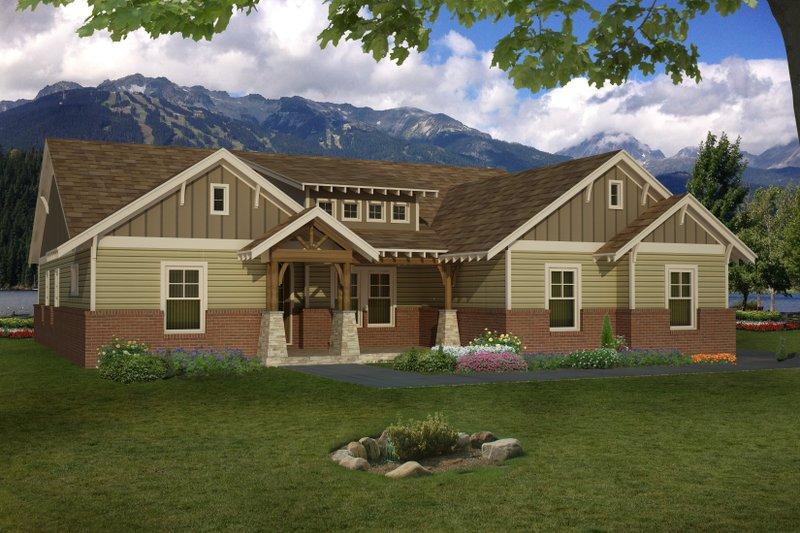 Architectural House Design - Craftsman Exterior - Front Elevation Plan #932-282