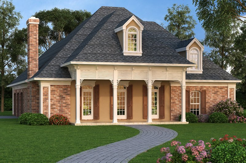 Home Plan - Front Elevation - 1400 square foot European home