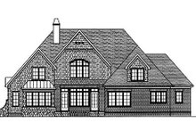 Architectural House Design - European Exterior - Rear Elevation Plan #413-118