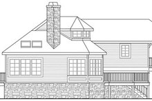 Dream House Plan - Craftsman Exterior - Rear Elevation Plan #124-784