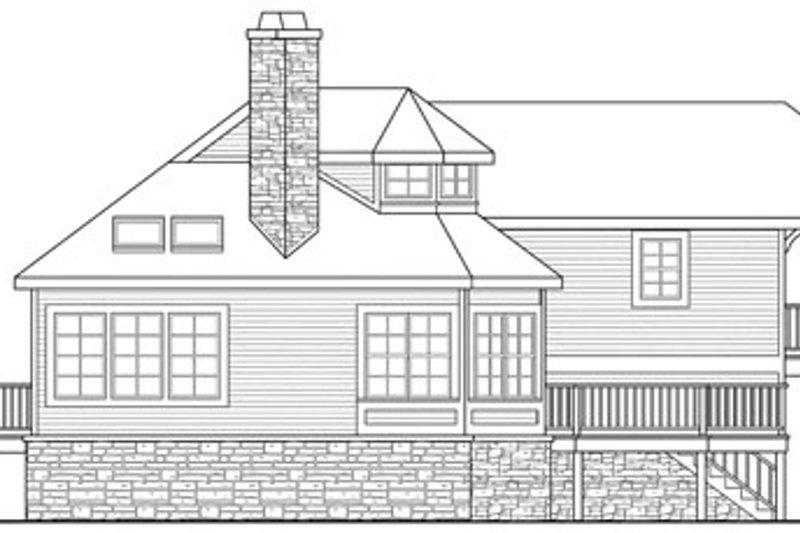 Craftsman Exterior - Rear Elevation Plan #124-784 - Houseplans.com