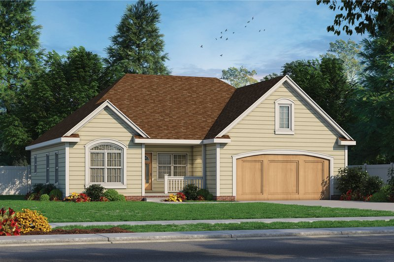 Traditional Exterior - Front Elevation Plan #20-2371