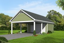 House Plan Design - Country Exterior - Front Elevation Plan #932-115