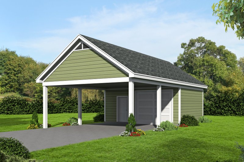 Country Exterior - Front Elevation Plan #932-115