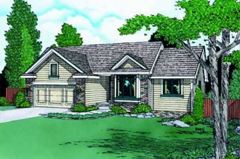 Traditional Exterior - Front Elevation Plan #20-466 - Houseplans.com